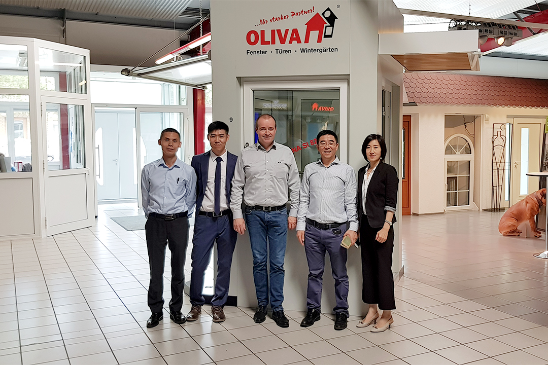 Group photo at Oliva Company