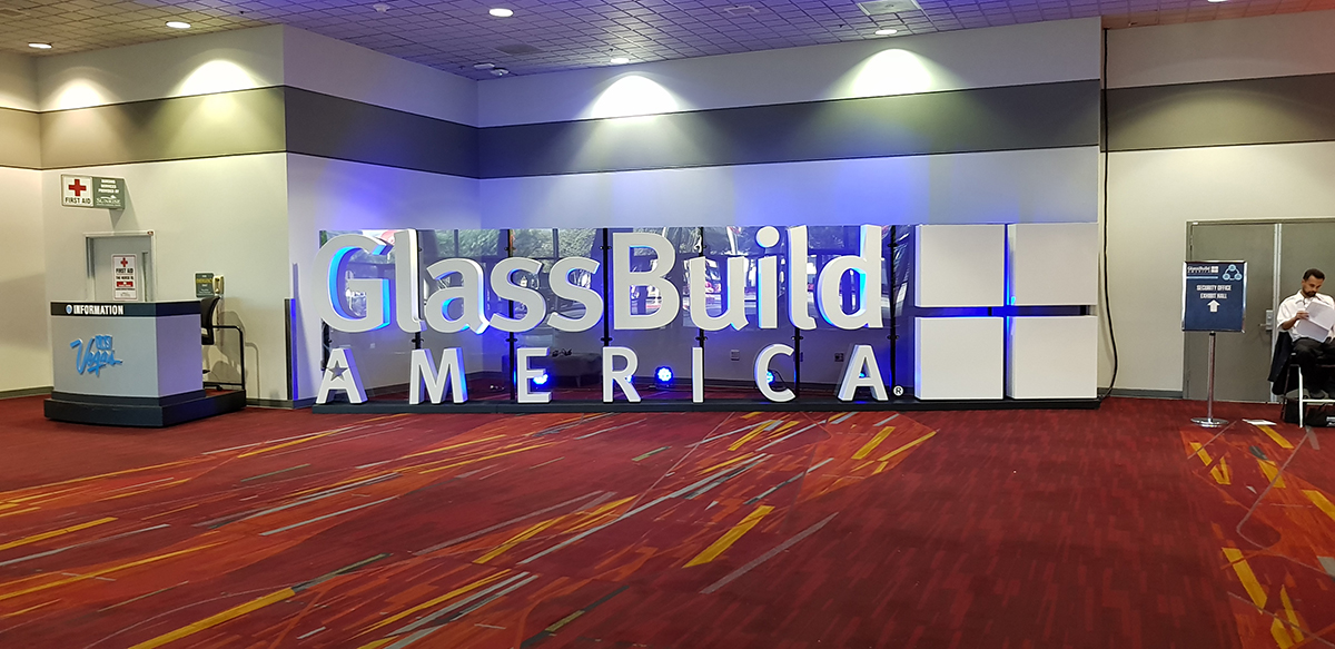 The GlassBuild is the largest american window- and glass-fair