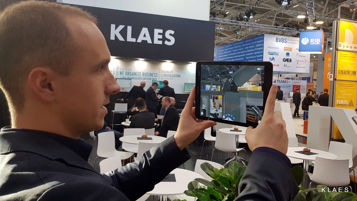 Klaes 3D with the Augmented Reality App - BAU 2019